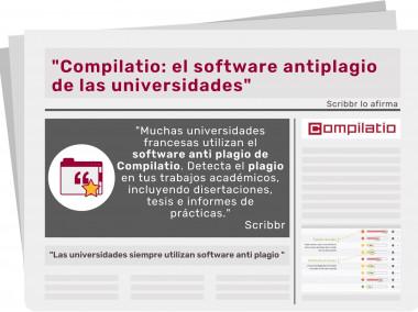 """Scribbr lo afirma : """"Compilatio: el software antiplagio de las  universidades"""""""