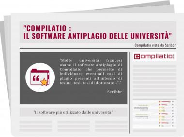 """Scribbr ha scritto: """"Compilatio – il software antiplagio delle università""""."""