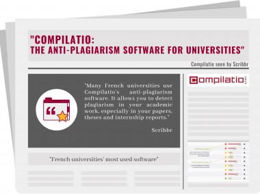 "Scribbr has declared: ""Compilatio: the anti-plagiarism software for universities"""