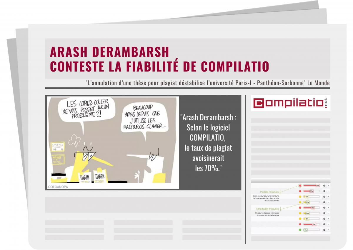 Arash Derambarsh conteste la fiabilité de Compilatio