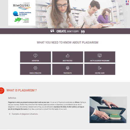 Votre site web prévention plagiat